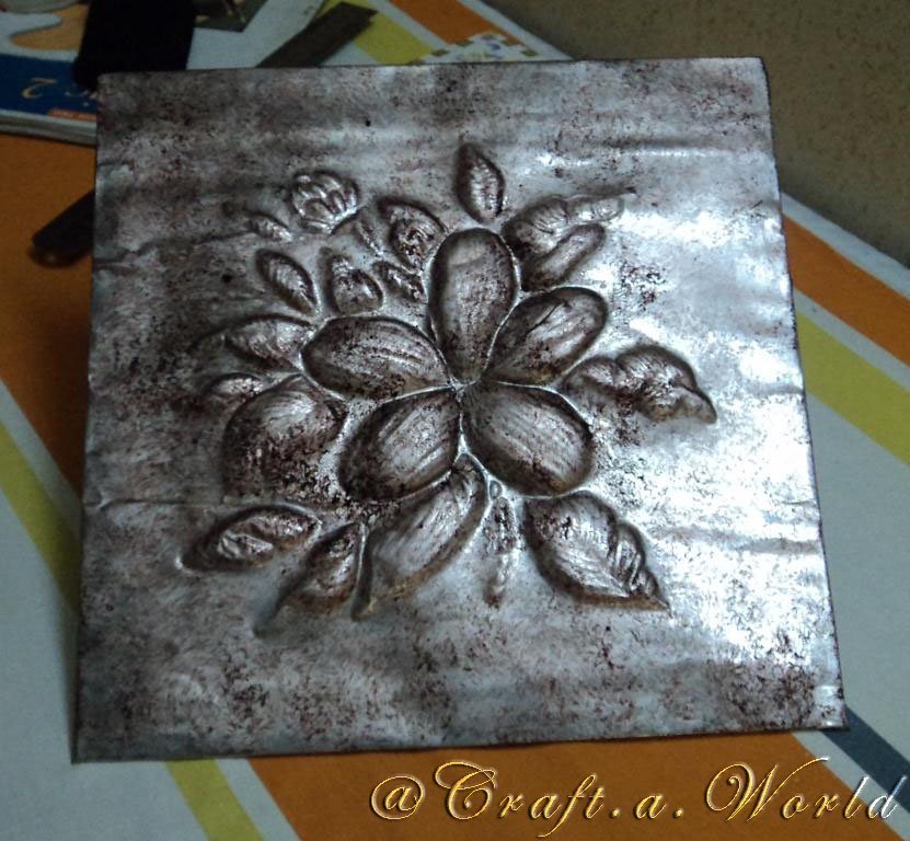 Foil craft zeeshcreation for Aluminum can crafts patterns